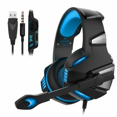 3.5mm Gaming Headset MIC LED Headphones G7500 for PC Mac Laptop PS4 Xbox One S X