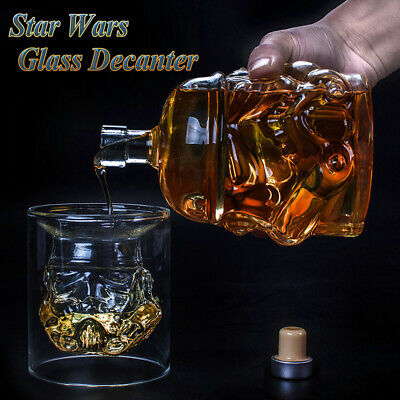 Star Wars Glass Stormtrooper Wine Whisky Liquor Alcohol Decanter Clear Bottle