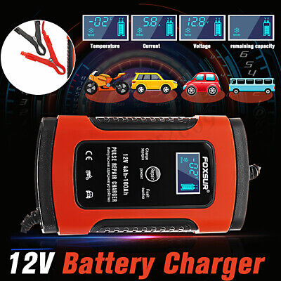 12V 5A Pulse Repair Charger For Car Motorcycle AGM GEL WET Lead Acid Battery LC