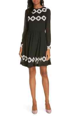 5c8d4df5d NWT TED BAKER LONDON Avianah Lace Trim Fit   Flare Dress Size Ted s ...