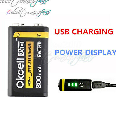 USB Rechargeable 9V 800mAh Lipo Battery For RC Helicopter Microphone New