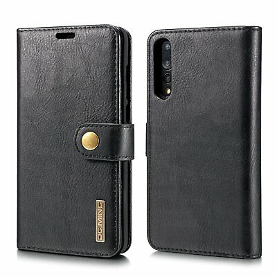 DG Ming Genuine Leather Wallet Flip Case Cover w/ Magnetic for Huawei P20 Pro
