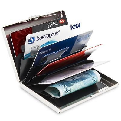 Aluminum Metal Slim Anti-Scan Credit Card Holder  Blocking Thin Wallet Case RF
