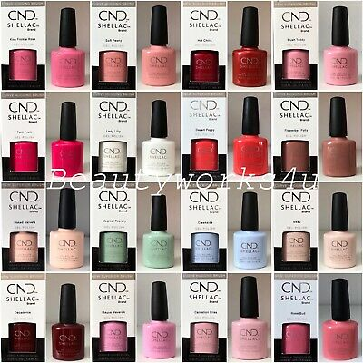 💜 CND Shellac UV Gel Nail Colours 7.3ml 160+ Colours 💜 YES, I DO BRIDAL