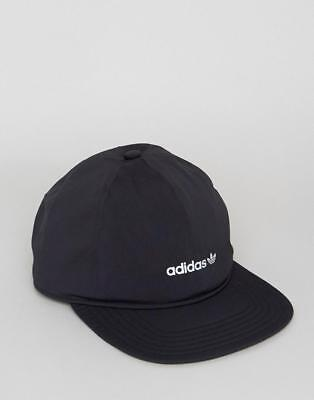 bb2b2a3b309 Adidas Originals Mens Tech Crusher Cap Peak Baseball Hat Skateboarding Black