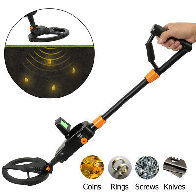 Deep Sensitive Metal Detector Searching Gold Digger Treasure Hunter LCD Set