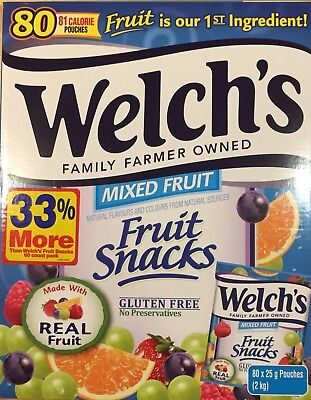 Welch's Fruit Snacks Mixed Fruit 80 Pouches 2kg