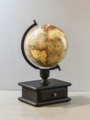 Pastel Country Serra Sphere Drawer Globe 8 inch World Globe Office Table Globe