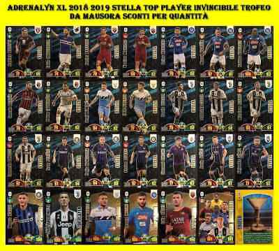 Calciatori Adrenalyn xl 2018 2019 TUTTE LE STELLE TOP PLAYER INVINCIBILE TROFEO