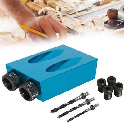 Pocket Hole Screw Jig with Dowel Drill Set Carpenters Wood Joint Tool Silverline