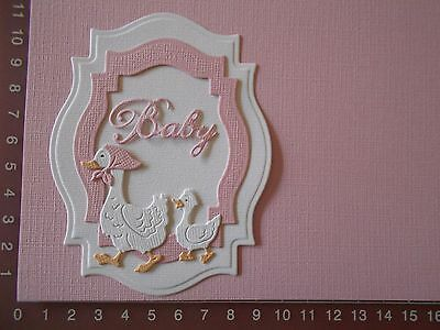 Die cuts - Duck, Duckling, Baby, Words, Card Toppers, Embellishments - Lot 2