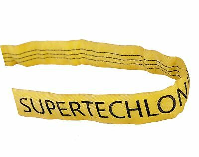 """Mazzella RS90 Polyester Round Sling, Endless, Yellow, 8' Length, 2 1/8"""" Width,"""