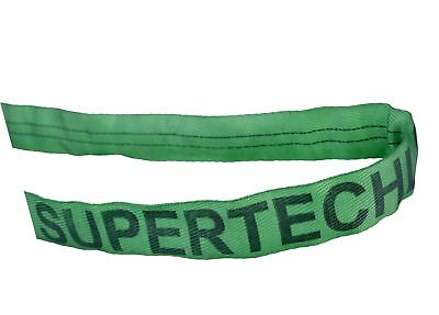"""Mazzella RS60 Polyester Round Sling, Endless, Green, 10' Length, 1 3/4"""" Width,"""
