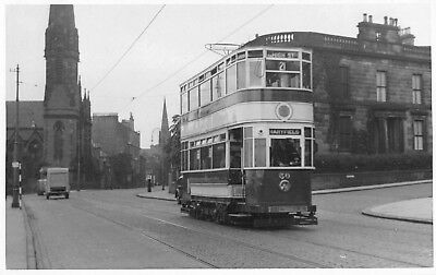 Dundee Tram To Maryfield Vintage Photograph Postcard