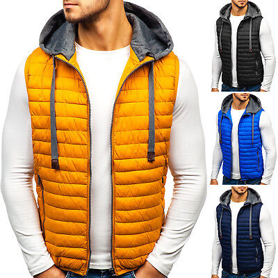 BOLF Vests Gilet Waistcoat Bodywarmer Jacket Warm Quilted Puffer Mens 4D4 Hooded