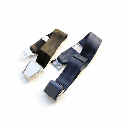 FAA Approved / E4 Safety Certified - Airplane Seat Belt Extender 2-Pack - FITS