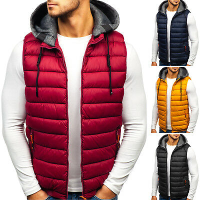 BOLF Vests Gilet Waistcoat Bodywarmer Jacket Warm Puffer Quilted Mens 4D4 Hooded