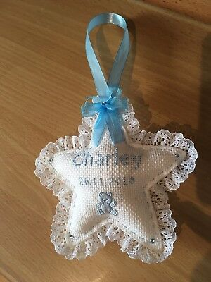 Handmade personalised pram Heart charm keepsake