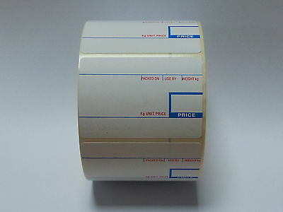 CAS Scale Labels Thermal 58mm x 40mm 20 Rolls Free Del!