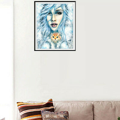 beauty DIY 5D diamond painting embroidery cross craft stitch decoration ^S