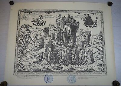 Antique Engraving Monastery of Transfiguration METEORA Monk Parthenios Elassona