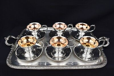 W.M.F AESTHETIC MOVEMENT VICTORIAN SILVER PLATED COFFEE CUPS1880's SPECIAL ORDER