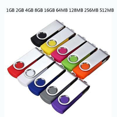 1-64GB Swivel USB 2.0 Metal Flash Memory U Stick Pen Drive Storage Thumb U Disk