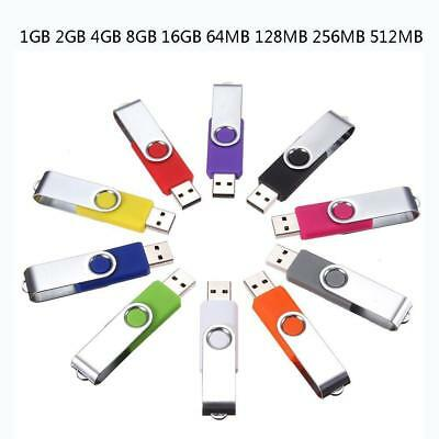 128G-1G Swivel USB 2.0 Metal Flash Memory Stick Pen Drive Storage Thumb U Disk