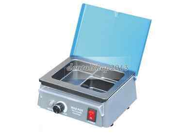 110V Analog Wax Heater Pot Dipping Melting 3 Well Dental Lab Electric Equipment