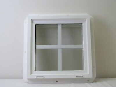 "SALE Square Window 18"" x 18"" Double Pane Tempered Glass with Grids"