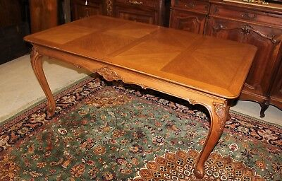 Antique French Louis XV Extendable Oak Wood Table | Dining Room Furniture