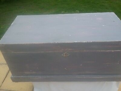 Painted Pine shabby chic  Victorian Blanket Box