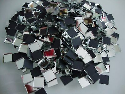 100 # Shisha Mosaic Silver Mirror Glass Tiles  for Embroidery & Craft 1 x 1 cm,