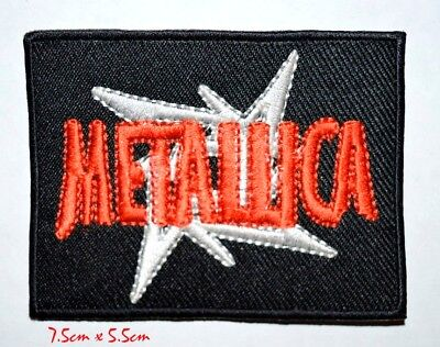 Metallica Red & White music Iron on Embroidered Patch #671