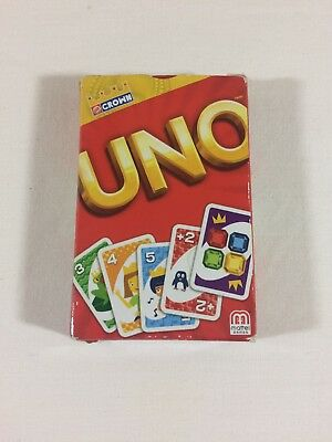 Mattel Burger King Crown Uno Cards Mint Condition