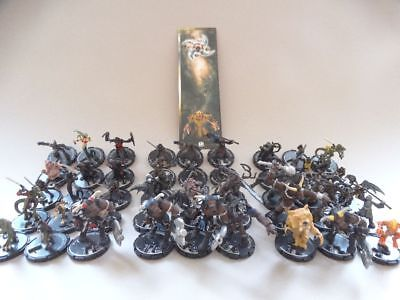 45 Mage Knight Dungeons - 14 red / 16 blue / 15 yellow + Bookmark #1172 D&D