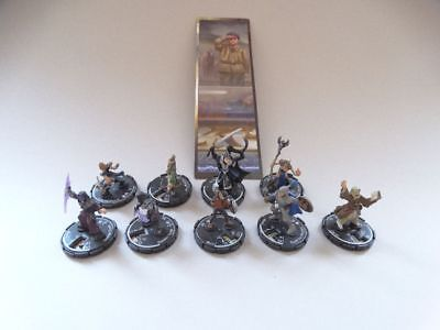 9 Mage Knight Dungeons Heroes + Bookmark #1176 D&D