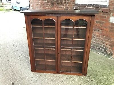 victorian rustic mahogany and pine bookcase top