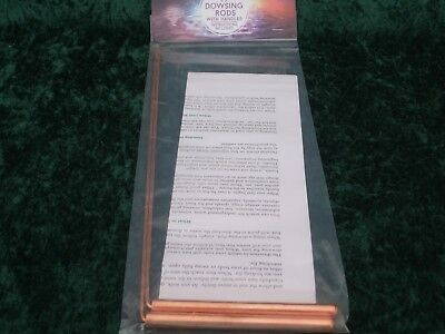 Pair Copper Dowsing Rods Water Divining Lost Items Pagan Wicca Full Instructions