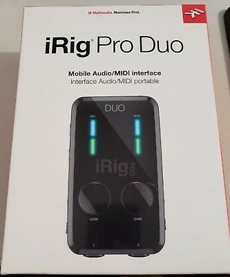 IK Multimedia iRig Pro Duo 2-Channel Audio/MIDI Interface DEFECTIVE FOR PARTS!!!