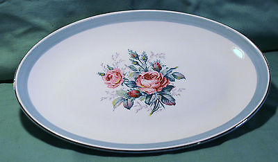Ridgway Staffordshire Picardy Pattern Large Oval Serv. Platter Beautiful Look!!!