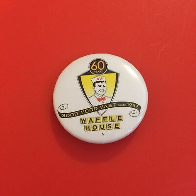 Limited Edition Waffle House Restaurant Good Food Fast Since 1955 Button/pin