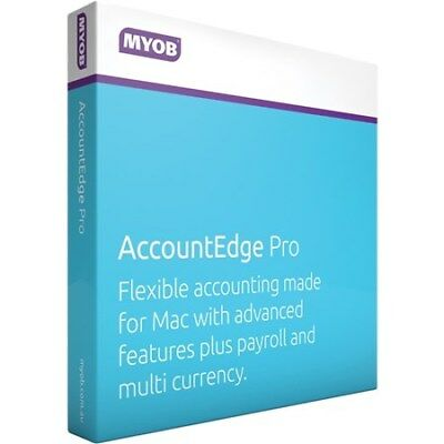New  MYOB Account Edge Pro for MAC users Only B9316869102177