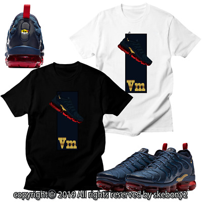 14e6ffba49c68 CUSTOM T SHIRT matching NIKE AIR VAPORMAX PLUS Midnight Navy AVP 1-15-5