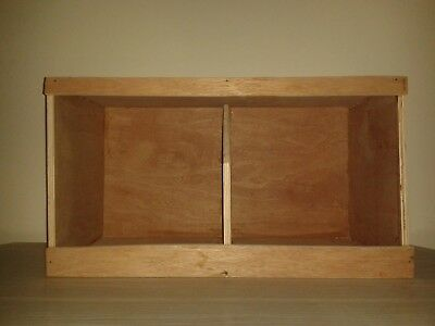 Chicken / Poultry Nest Box - Double - Hardwood