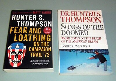 2 Books HUNTER THOMPSON FEAR LOATHING CAMPAIGN TRAIL Psychedelic GONZO VOL 3 LSD