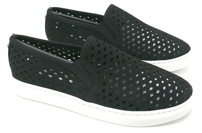 d0c389021c2 NIB Steve Madden Perforated Zeena Slip-On Sneakers Black Size 7 FREE SHIP