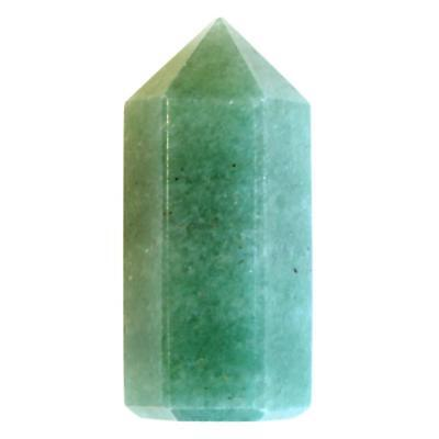 Pointe Polie Hexagonale Aventurine - 3,5 cm - Lot de 3