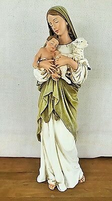 Blessed Virgin Mary Statue, Madonna and Child with Lamb, Our Lady of Innocence