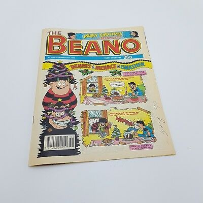 The BEANO Comic Vintage Christmas 22nd December 1990 #2527 UK Dennis the Menace